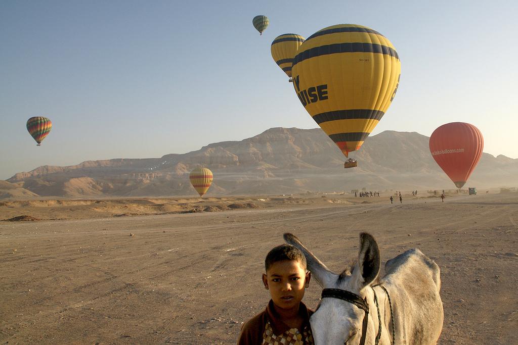 Ballonvaart in Luxor. Foto: Ernie Reyes