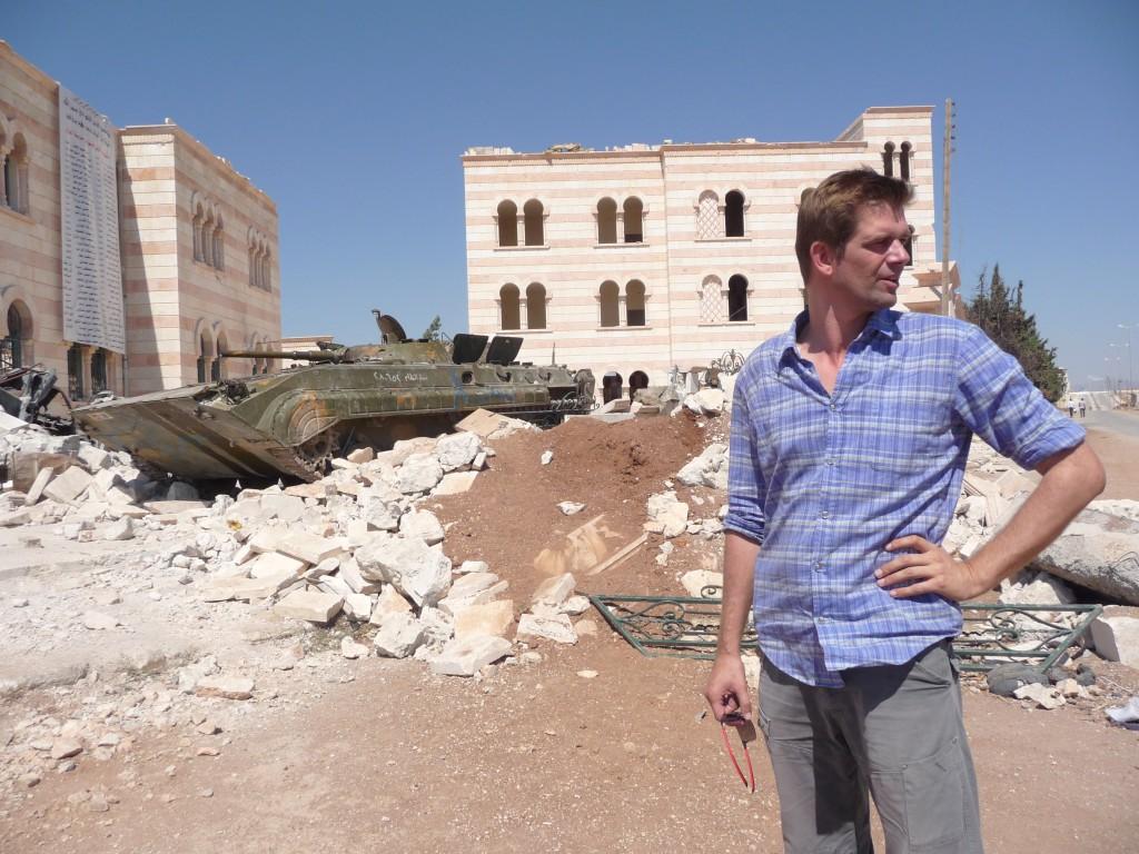 Bram Vermeulen in Syrië. Foto VPRO
