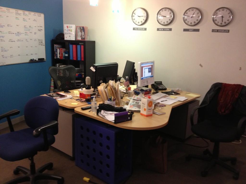 Het kantoor van RTL New York. Foto Elze van Driel