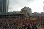 Het Taksimplein in Istanbul, afgelopen zondag. Foto Tan Tunali