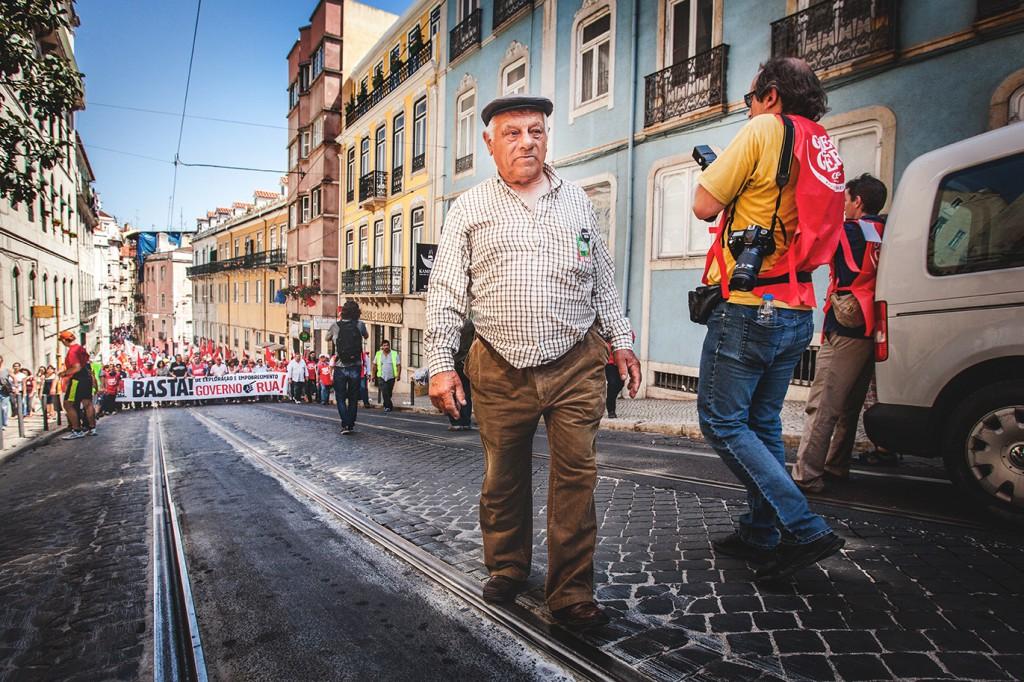 Greve Geral in Lissabon