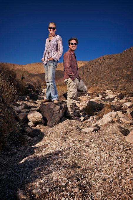 Andrea Dijkstra en Jeroen van Loon in Israël. Foto Jeroen van Loon.