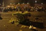 Maïsverkoper op het Tahrir-plein. Foto Lucia Admiraal