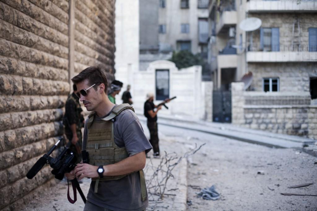 James Foley in Syrië,  2012. Foto Manu Brabo / Free James Foley