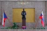 Het monument in Praag voor Tomas Masaryk, de eerste president van Tsjechoslowakije. Foto: Wikimedia Commons, Marcin Szala.