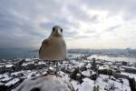 Een besneeuwd Istanbul. Foto Bulent Kilic