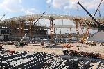 Het WK-stadion is nog volop in aanbouw