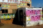 Posters van Malema's EFF tijdens de verkiezingen afgelopen mei. Foto Niels Posthumus