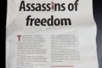 Voorpagina van de Zuid-Afrikaanse krant Mail & Guardian van gisteren.