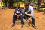 Tako Rietveld in Sierra Leone (foto credits: Tako Rietveld)