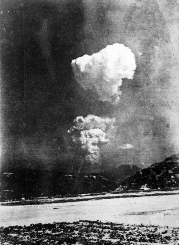 De ontploffing van de atoombom op Hiroshima. Foto Wikimedia Commons